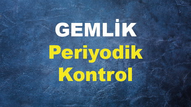 GEMLİK PERİYODİK KONTROL